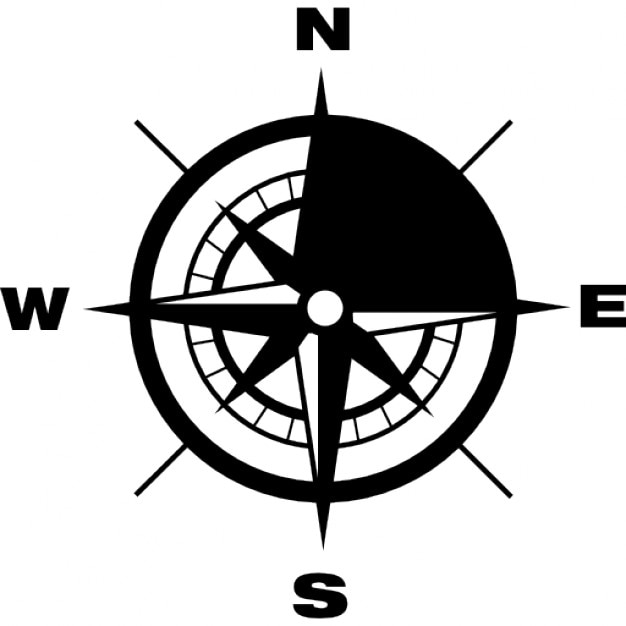 Compass with Earth cardinal points directions Icons | Free Download