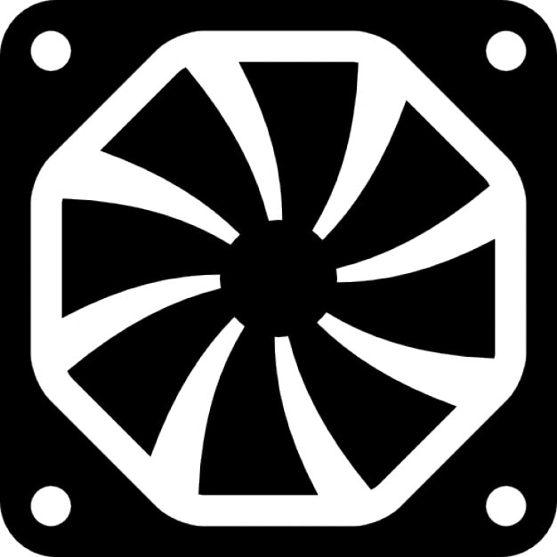 Computer Fan Square Tool Icons Free Download