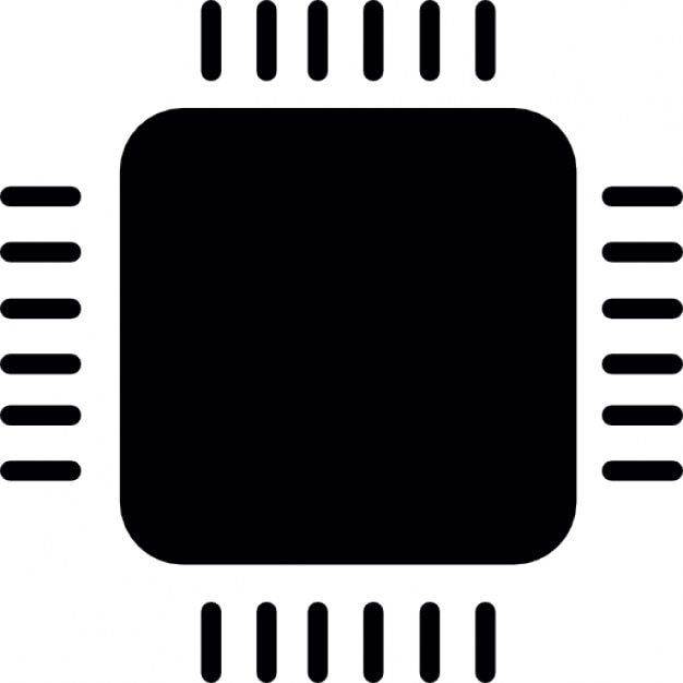 Computer Micro Chip Icons