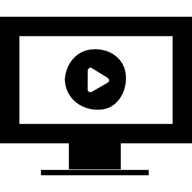 Computer Play Interface Symbol For Video Or Presentation Icons