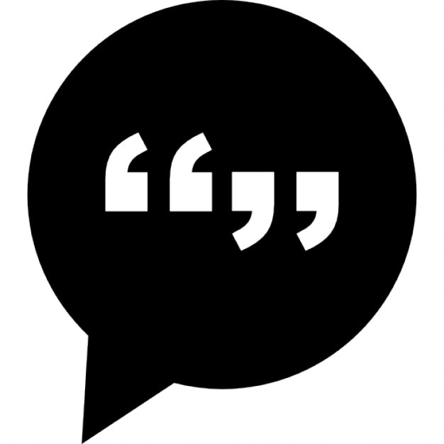 Signs Quotes Captivating Conversation Mark Interface Symbol Of Circular Speech Bubble With