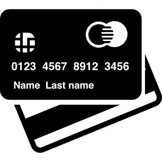 Credit Card Front And Back View Icons Free Download
