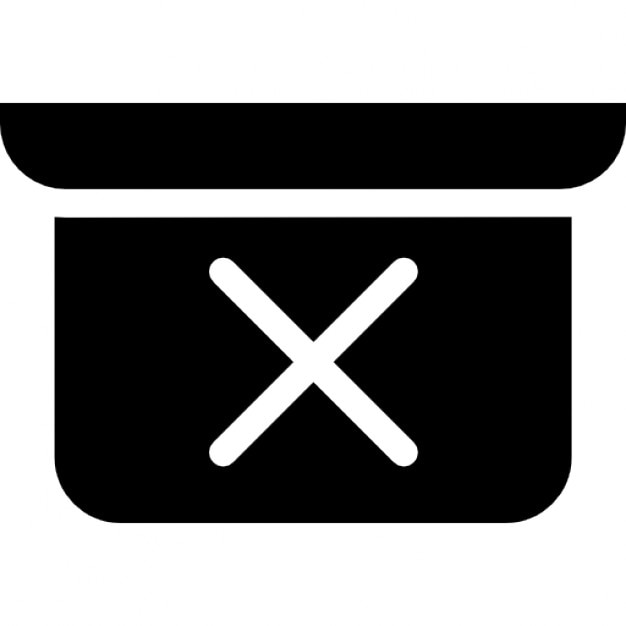 Cross On A Rectangular Shape With A Smaller One And Both Of Rounded