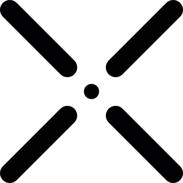 Cross Symbol With A Small Center Dot Icons Free Download