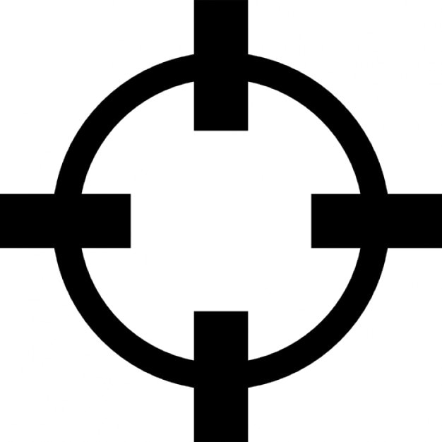 crosshair variant outline icons free download dog vector art free download hunting dog vector art free