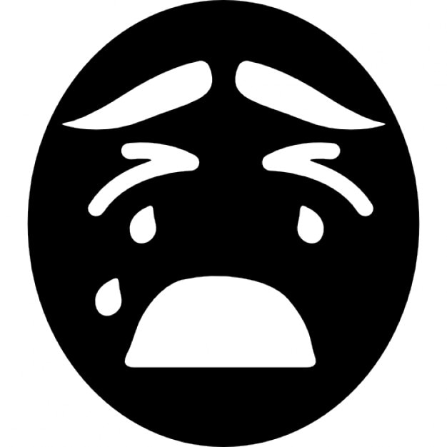 Crying Emoticon Face Icons Free Download