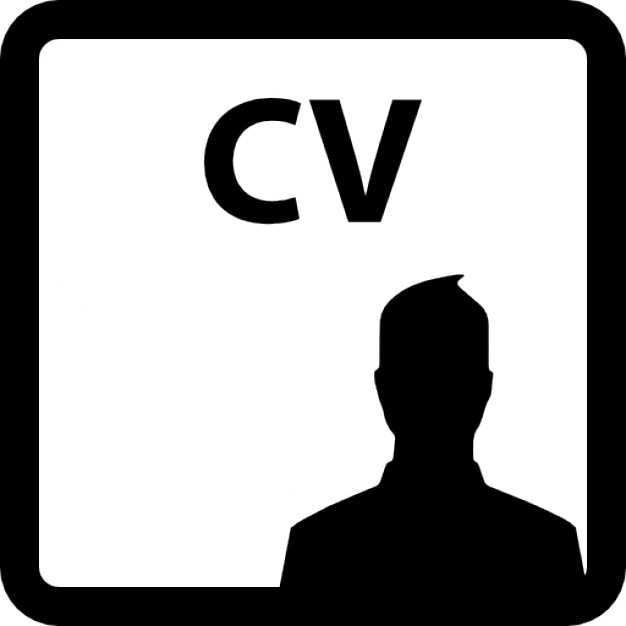 curriculum vitae of a man free icon