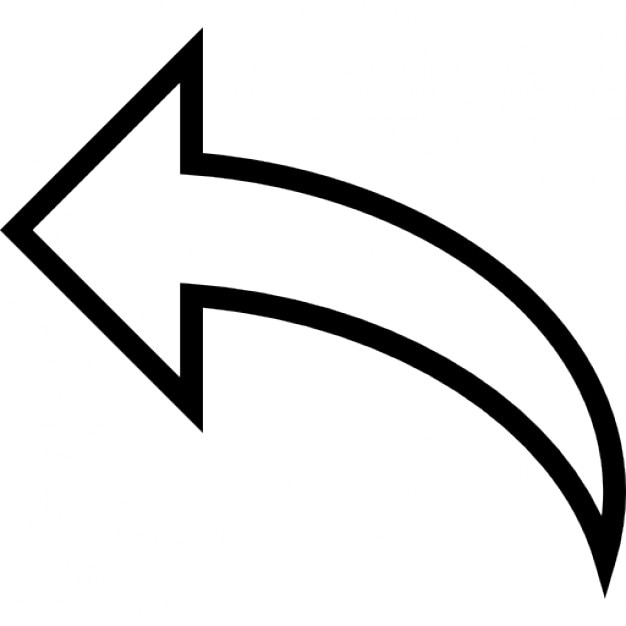 Curve Arrow Outline To The Left Free Icon