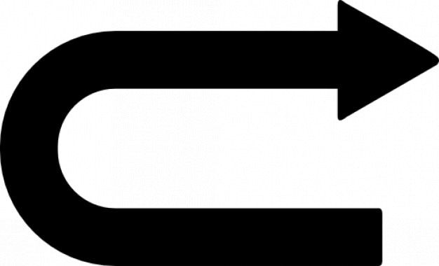 Curved Arrow Point To Right Free Icon
