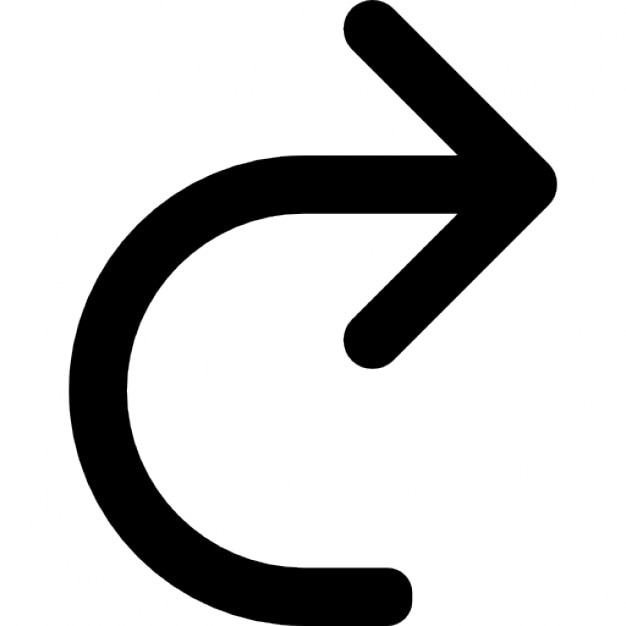 Curved Arrow To The Right Free Icon