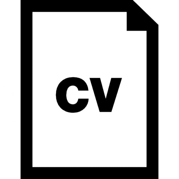 cv file interface symbol icons