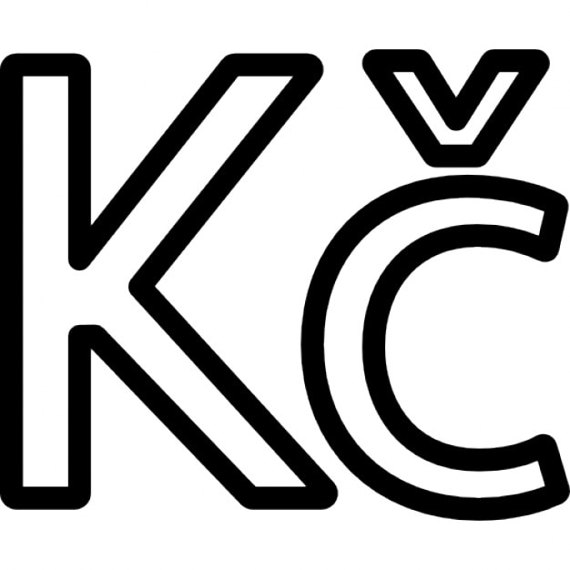 Czech Republic Koruna Currency Symbol Icons Free Download