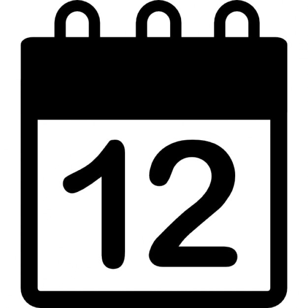 Daily calendar on day 12 page Icons | Free Download