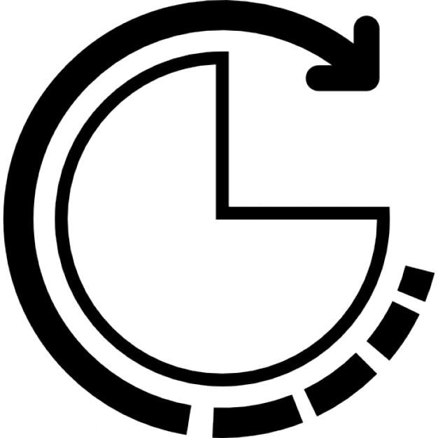 Data analysis pie chart interface symbol Icons | Free Download