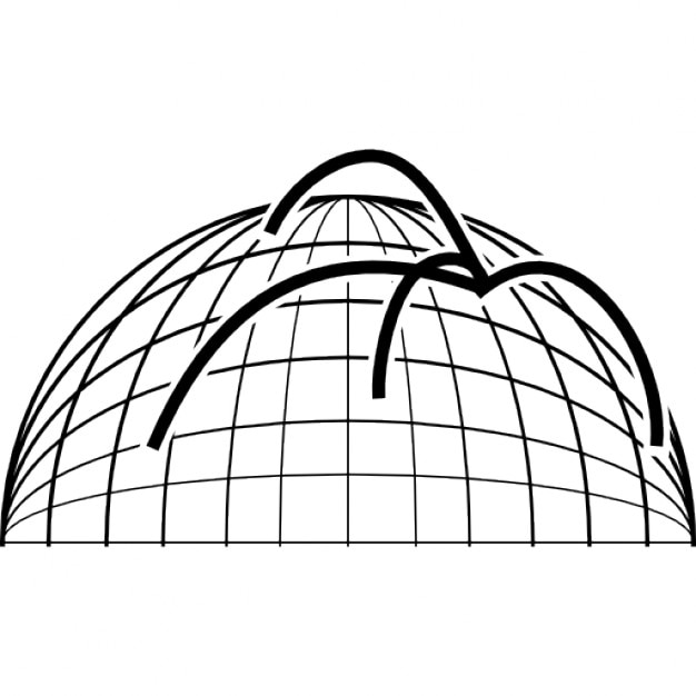 Data Analytics Lines On Spherical Grid Free Icon