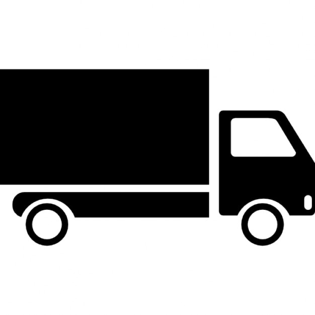 Deliver Truck on Cartoon Moving Van Clip Art