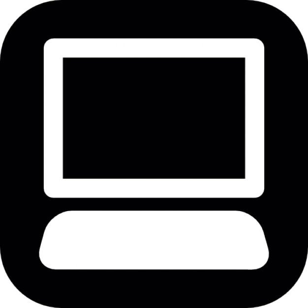 Icons Black on Desktop Desktop Computer on Black