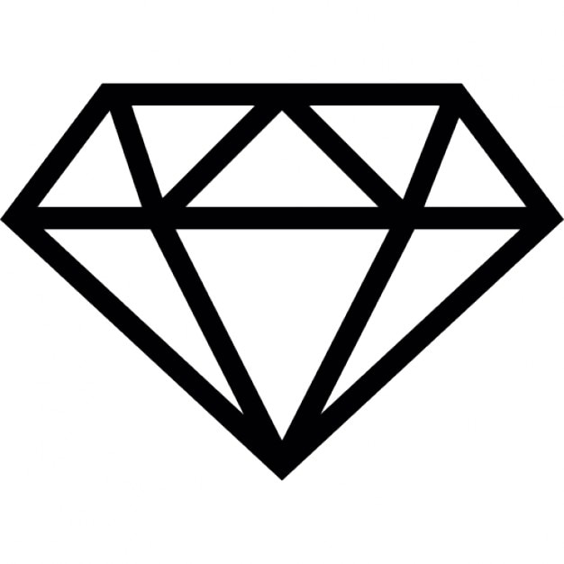 Diamond outline Icons | Free Download