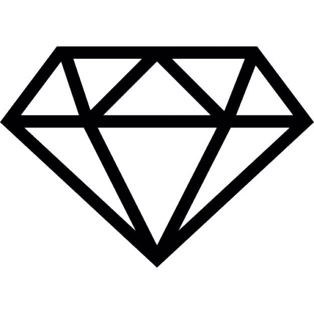diamond outline icons free download rh freepik com diamond clip art free diamond clipart images