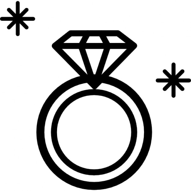 diamond ring vector icon - photo #4