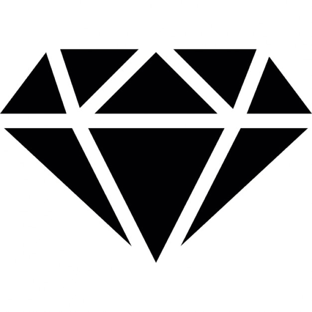 Diamond with white outline Icons | Free Download