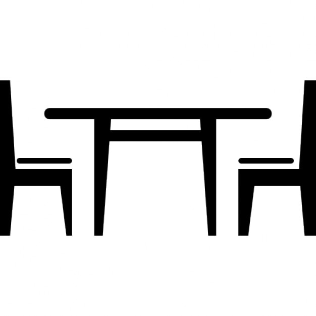 Dining Room Furniture Of A Table With Chairs Free Icon