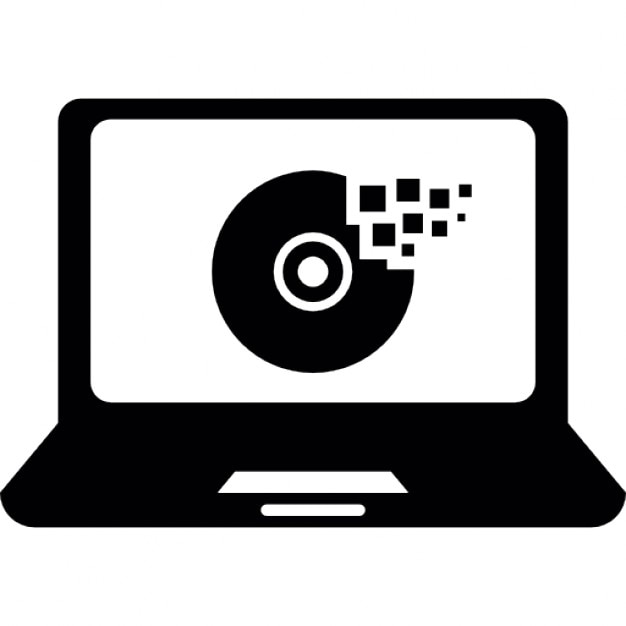 Disc Cleaner On Laptop Computer Icons Free Download