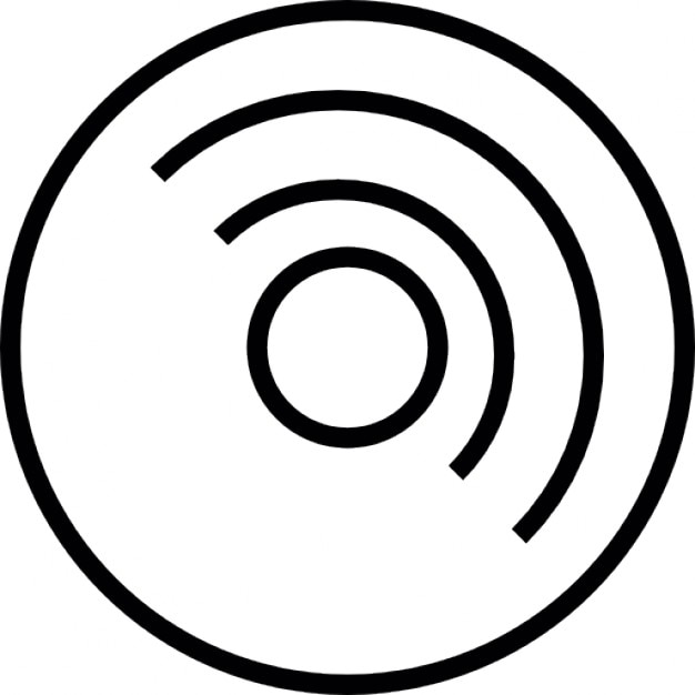 disk outline icons