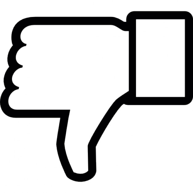 dislike on facebook thumb down symbol outline icons free download rh freepik com facebook like vector download facebook like vector ai