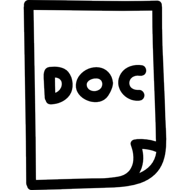 Document file hand drawn symbol Icons   Free Download  Document Symbol