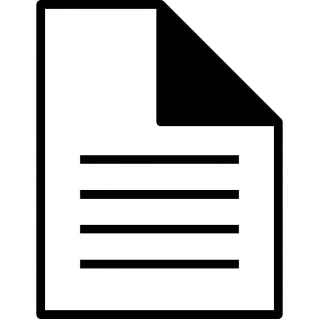 Document page, IOS 7 interface symbol Icons   Free Download  Document Symbol