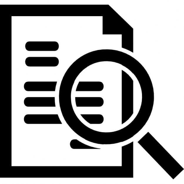 Document search interface symbol Icons   Free Download  Document Symbol