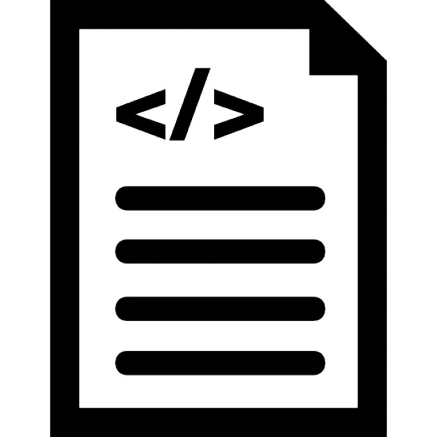 Document With Code Interface Symbol Icons Free Download