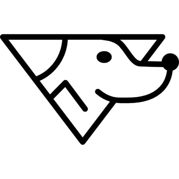 dog head variant outline icons | free download