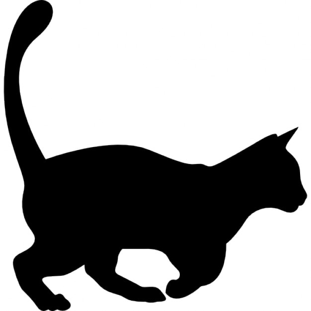 domestic cat shape free icon