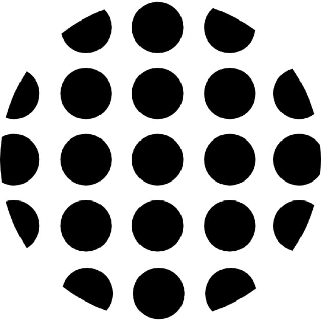 Dots Circular Shape Icons Free Download
