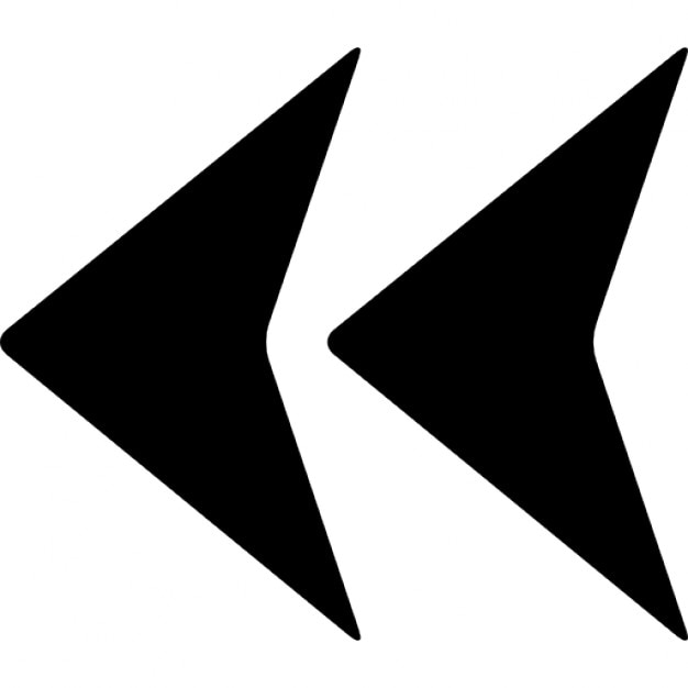 Double Left Arrows Symbol Icons Free Download