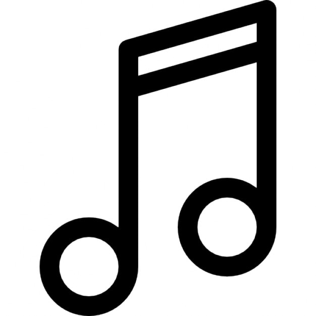 Double Musical Note Outline Icons Free Download