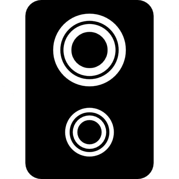 Double Woofer Speaker Free Icon