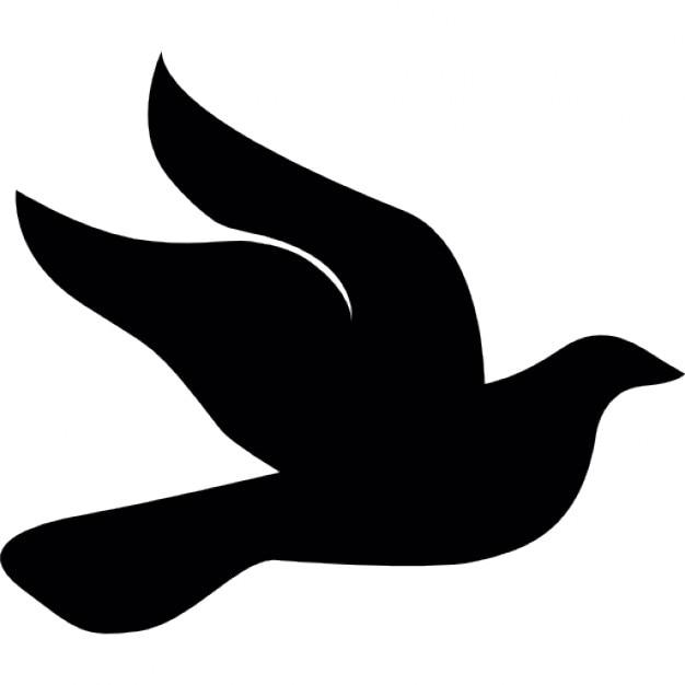 white art and Flying bird black clip