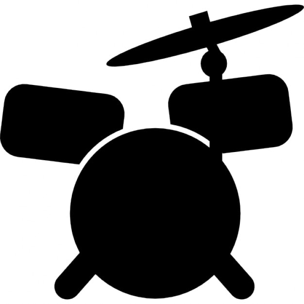 Drum set cartoon variant Icons | Free Download