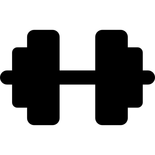 Dumbbell Icon Vector Dumbbell, IOS 7 interf...