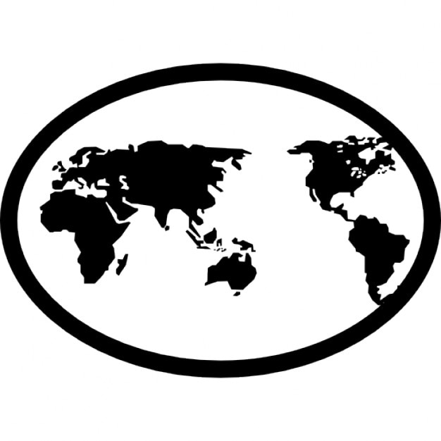 Earth map in an oval icons free download earth map in an oval free icon gumiabroncs Gallery