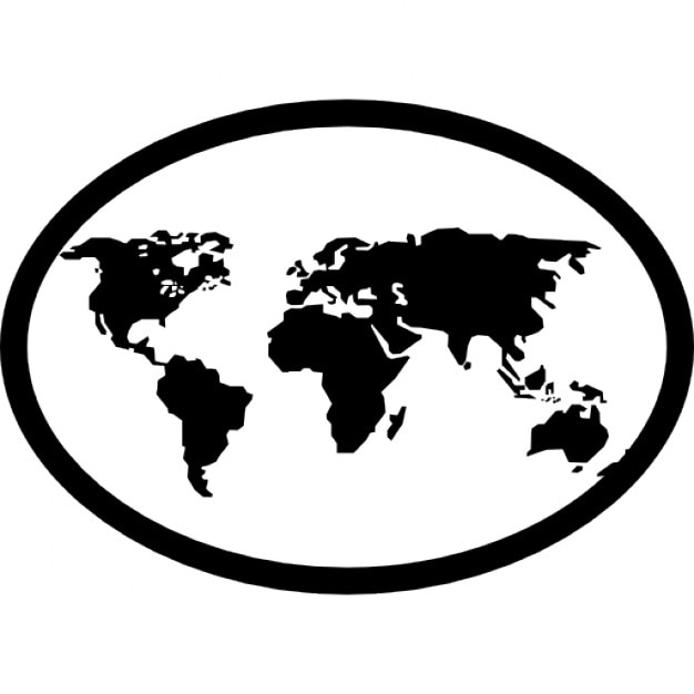 Earth map in an oval icons free download earth map in an oval free icon gumiabroncs Choice Image