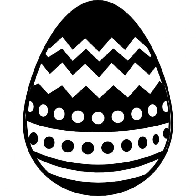 Easter Egg Silhouette easter egg with different lines design icons ...