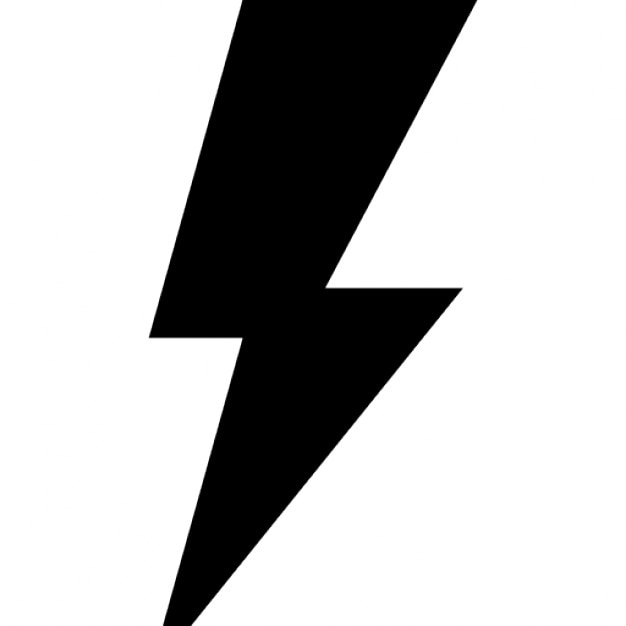 Eco Energy Symbol Of A Lightning Bolt Icons Free Download