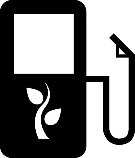 ecological fuel station Free Icon