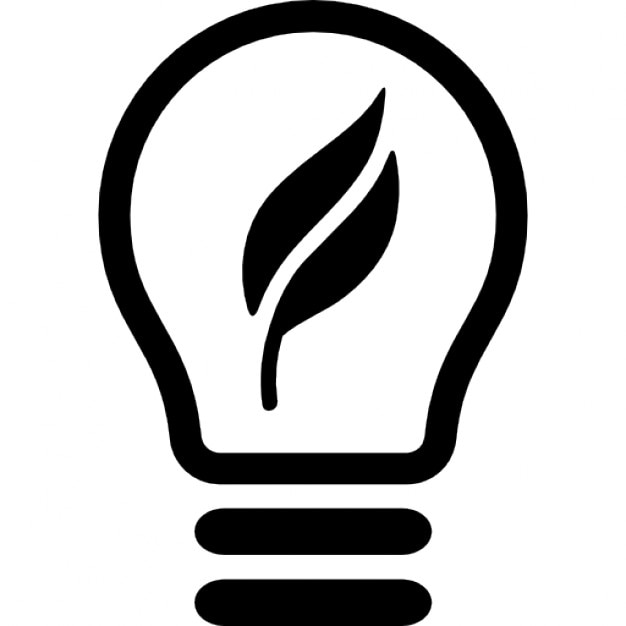Ecological lightbulb symbol Icons | Free Download