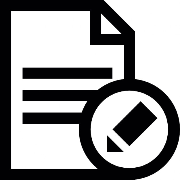 edit text document interface button icons