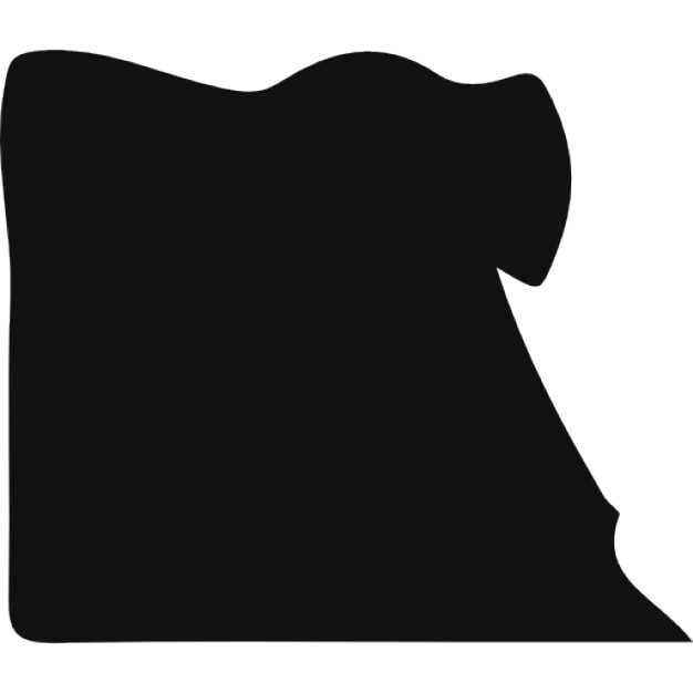 Egypt Black Country Map Shape Icons Free Download - Map of egypt vector